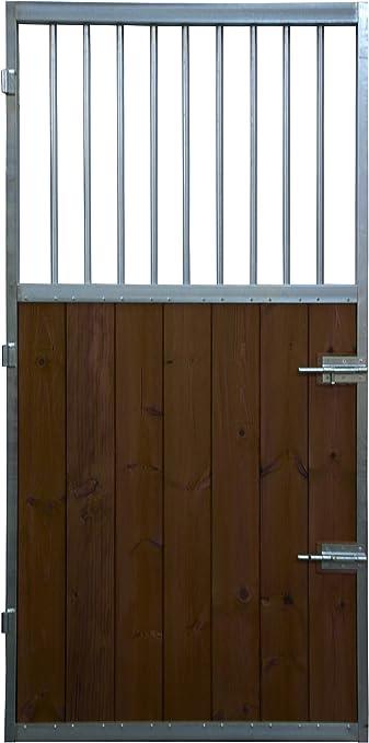 ESTRUCMADER - Puerta 1 Hoja con reja Superior para Box de Caballo ...
