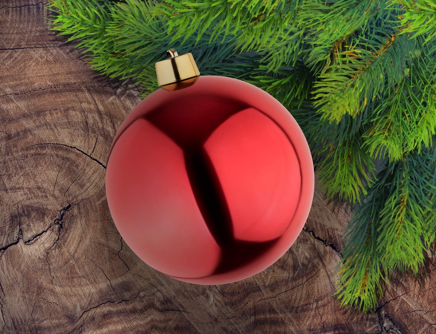 Christbaumkugeln Außenbereich.8 Große Weihnachtskugeln Christbaumkugeln Rot Glänzend 25 Cm