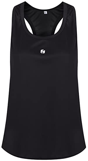 e136c5bb8 Candish Ladies Gym Vest R1PL3Y Sports Tank Top Womens Fitness Running Racer  Back Gym Vest (