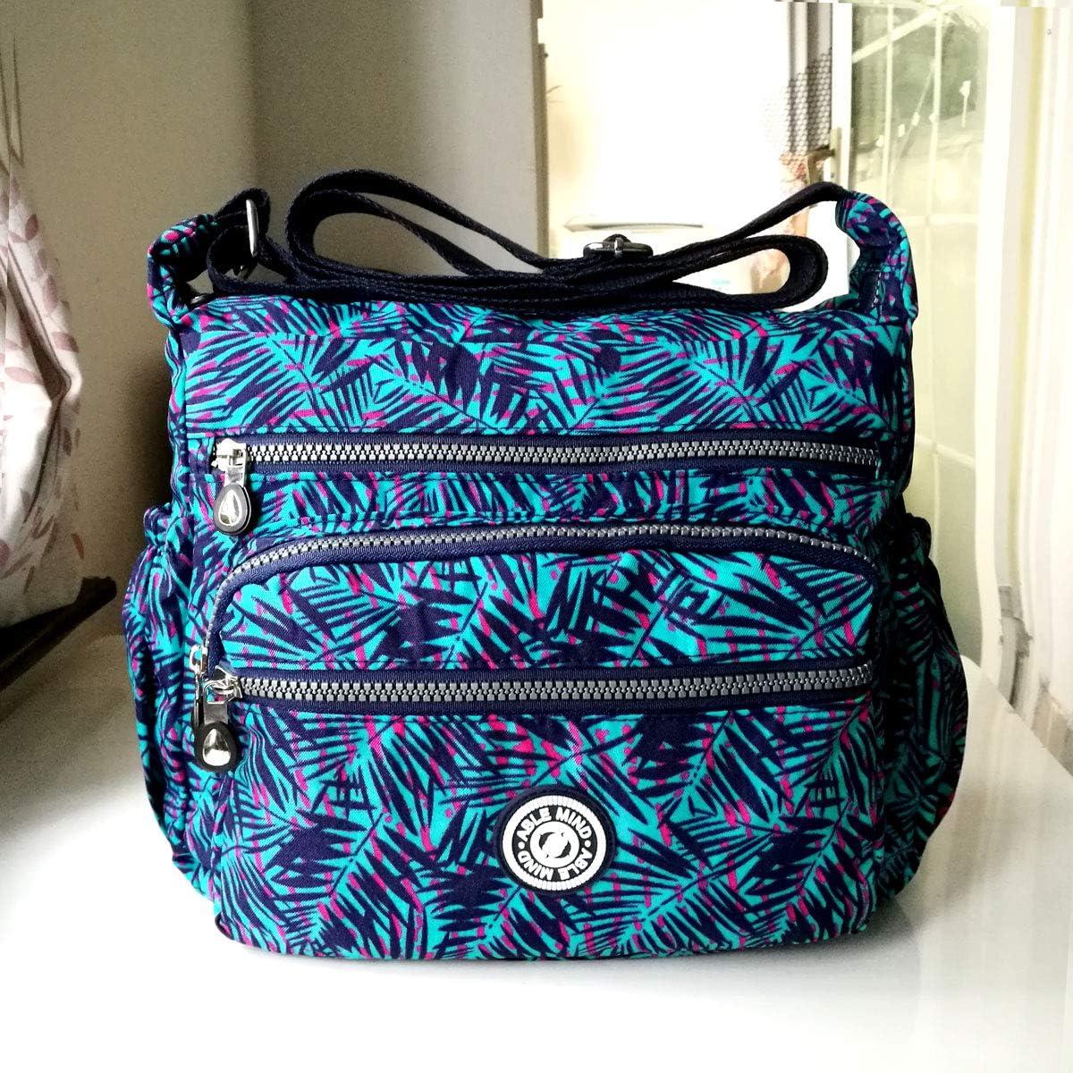 AIBILIEI Women Larger Bag Nylon Crossbody Bag Messenger Shoulder Handbag for Shopping Work Daily Use