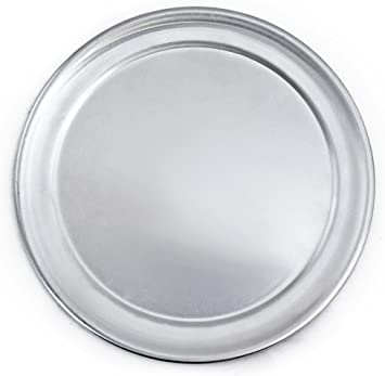 """Pan 14/"""" PIZZA Serving Tray Home or Restaurant Use Wide Rim Tray Aluminum"""