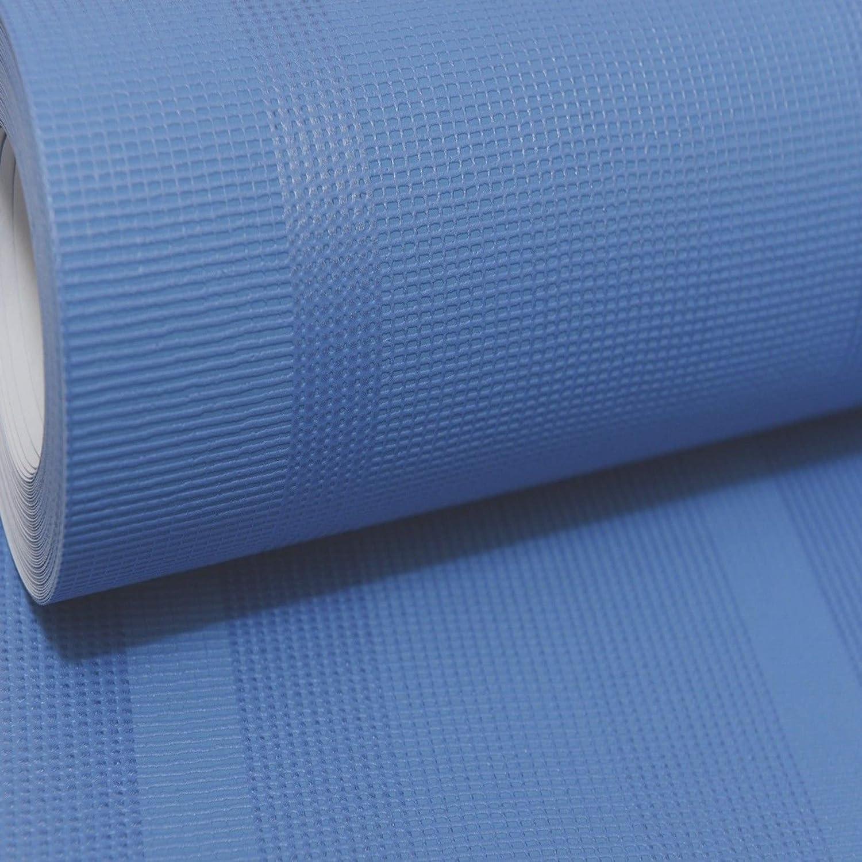 Plain Blue Textured Vinyl Wallpaper