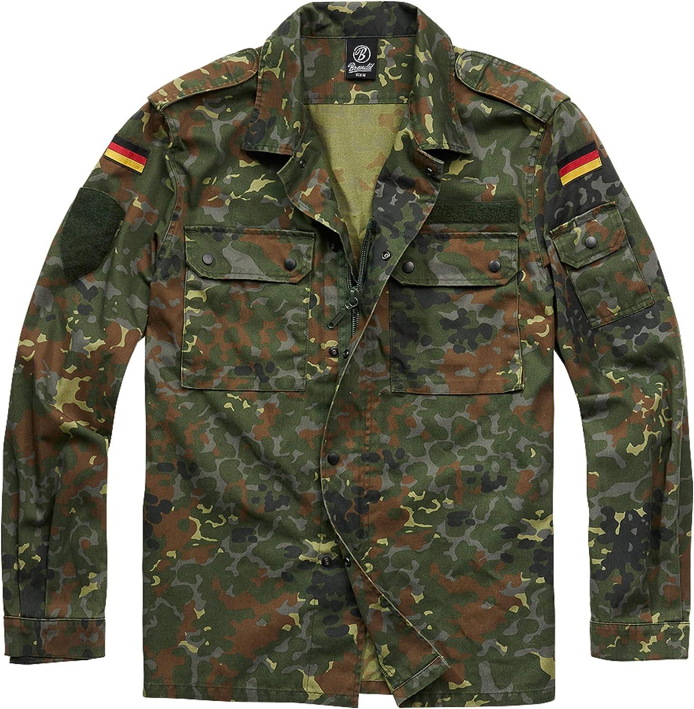 Brandit Field Tunic Longsleeve Flecktarn Camouflage, Regular Flecktarn
