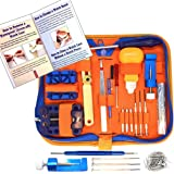 QwikFixxer Watch Repair Kit: 16 Watchmaker Tools, Case Wrench, Watch Band Tool PLUS free Spring Bars