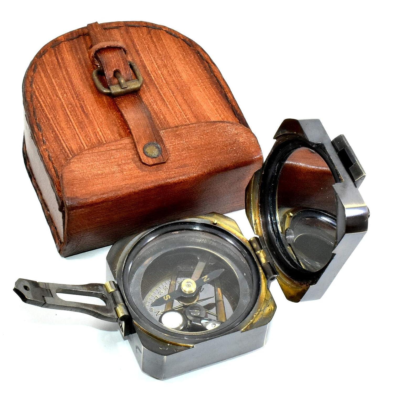 NGD Nautical真鍮アンティークMaritime真鍮Brunton Compass /地質コンパス B079X24DWG