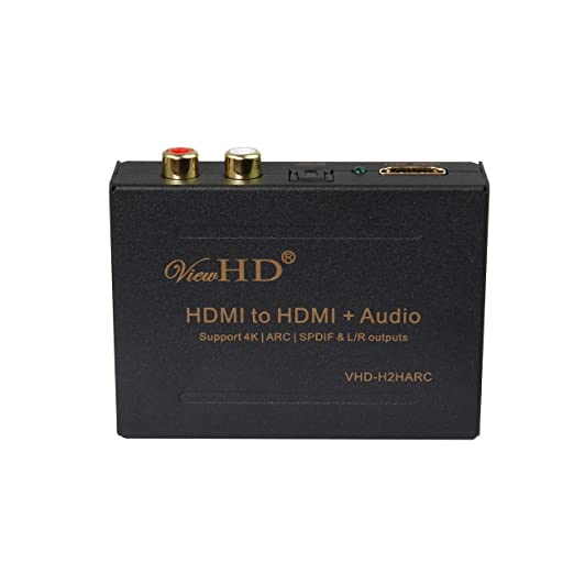19 opinioni per ViewHD HDMI Audio Extractor Support Ultra HD | 4K | ARC | MHL | TOSLINK Optical