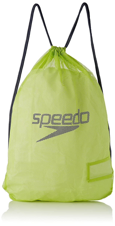 Speedo Equipment Mesh Mochila, Unisex Adulto, ponche Lima/Gris óxido, Talla Única