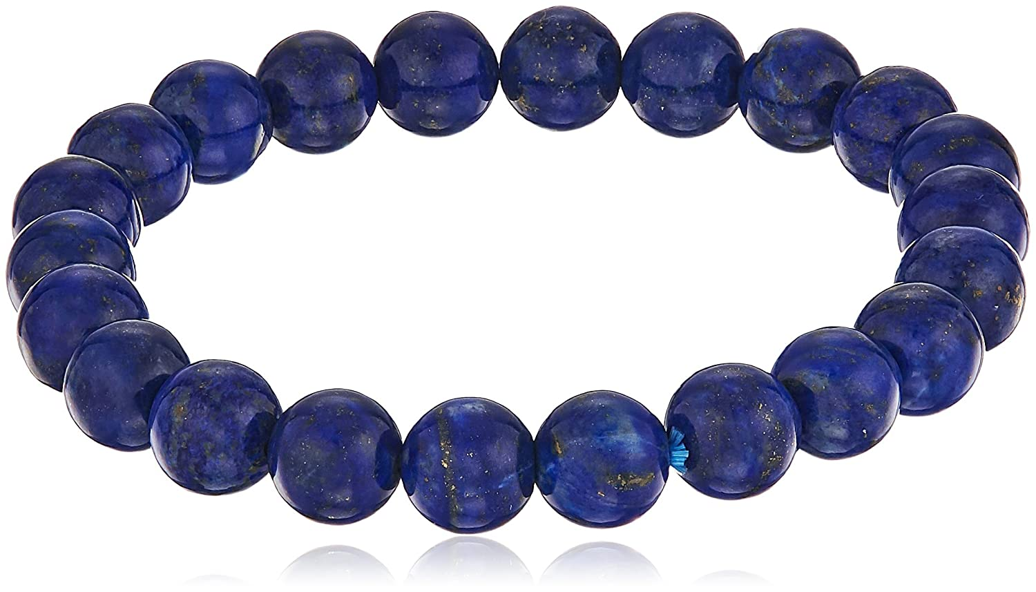 stretch smooth round 8mm lapis lazuli 7.5'' stretch bracelet LT12548-L8