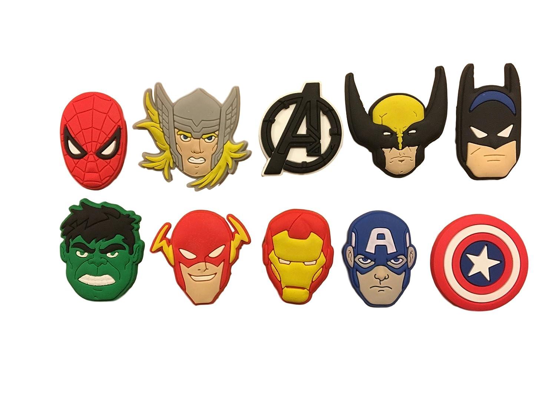 Super Hero Avengers 10 pcs Shoe Charm Set - Shoes, Crafts, Cake Toppers SH10SH1