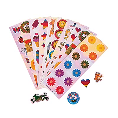 Fun Express - Iridescent Stickers (1200pc) - Stationery - Stickers - Stickers - Sheets - 100 Pieces: Toys & Games