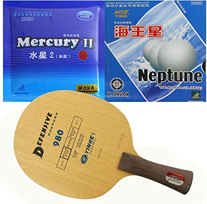 4 x Galaxy Neptune long pips out table tennis rubber new!