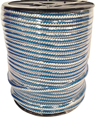 "1//2 /""TREE ARBORIST ROPE 600 ft DYNAMIC NEW Blue White"
