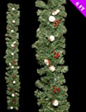 6ft bella decorata decorazione di Natale ghirlanda pino innevato (DP106)