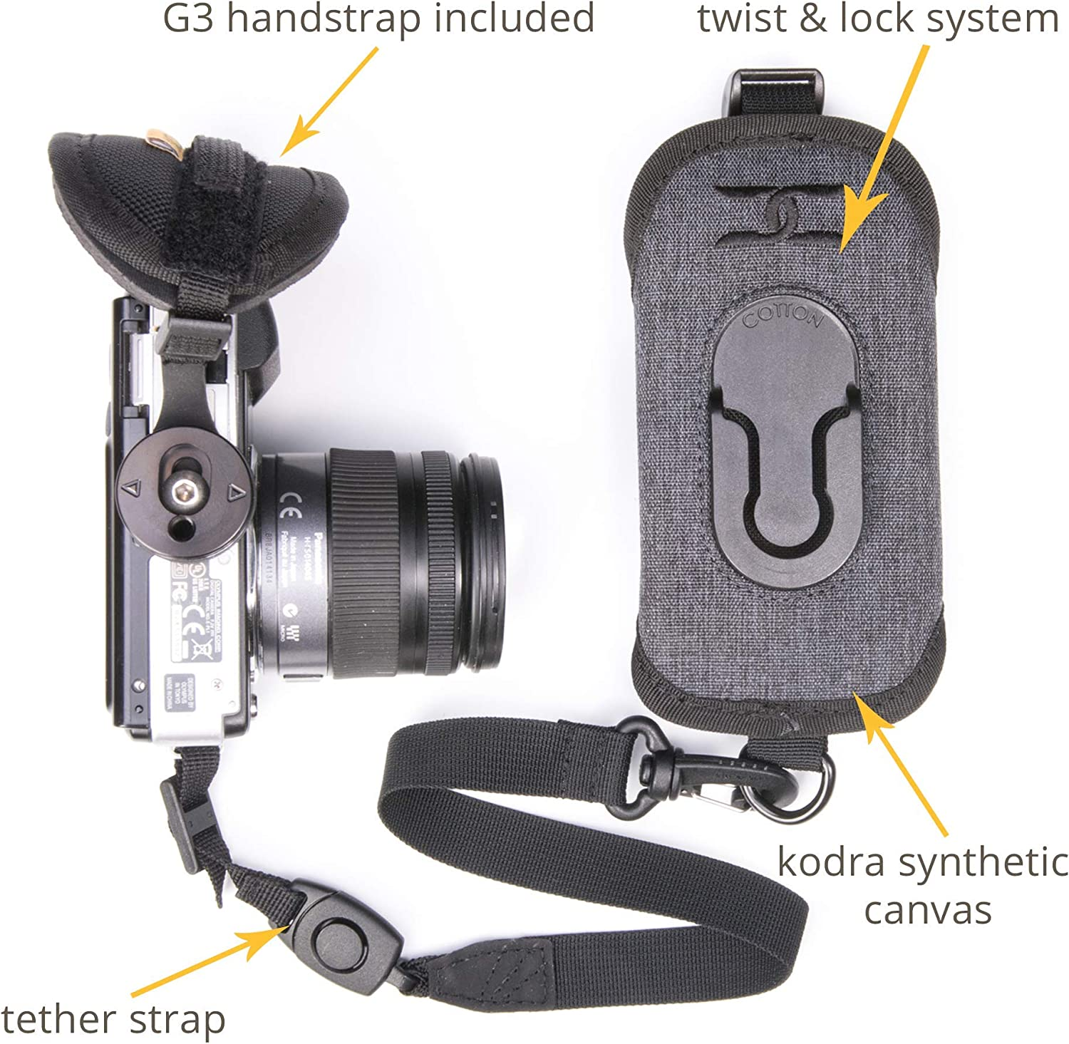 Cotton Carrier 288GREY CCS G3 Strap Shot for One Camera - Grey