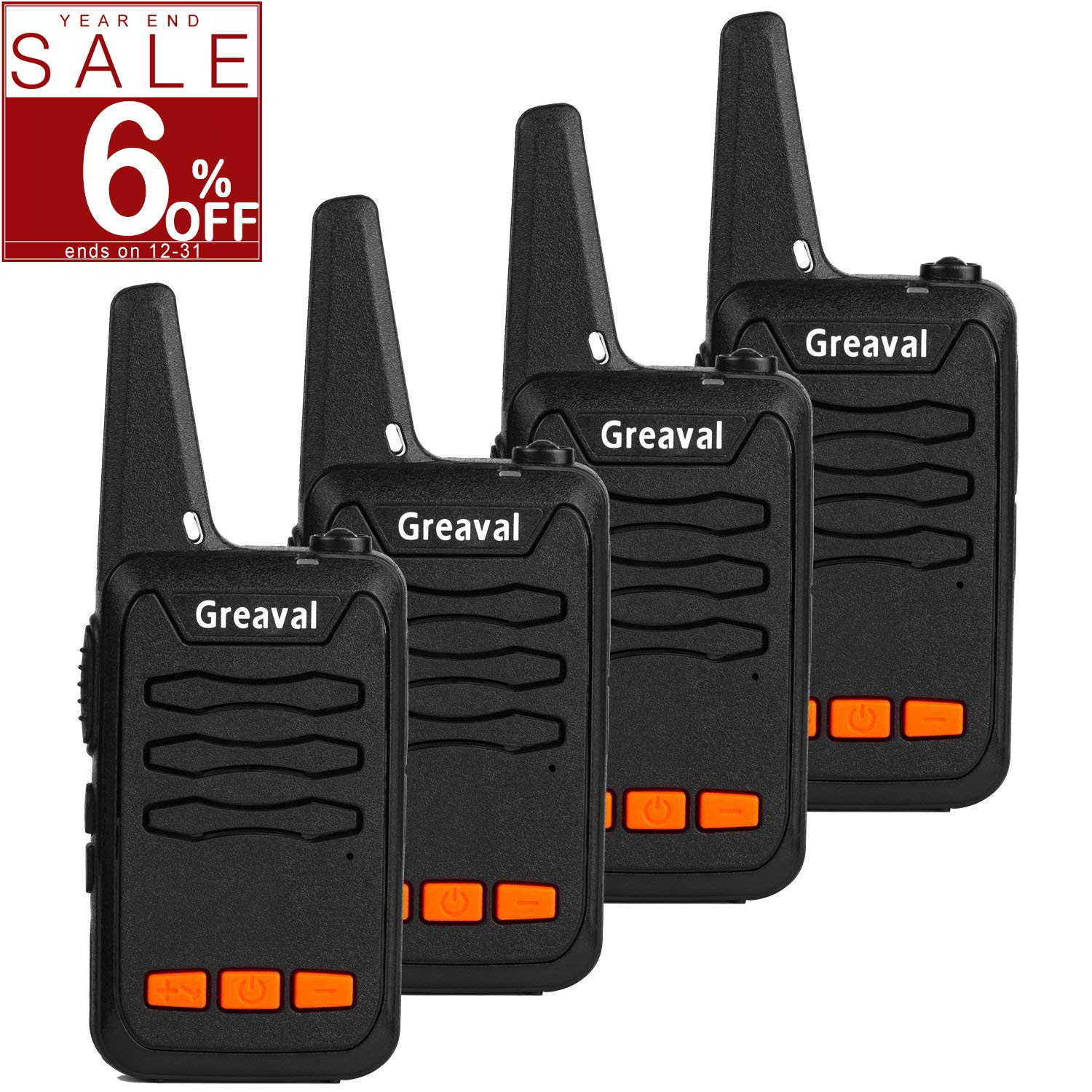 3e926452271 Greaval Walkie Talkie Long Range with Charger 16-Channel 2 Way Radio UHF 400 ~