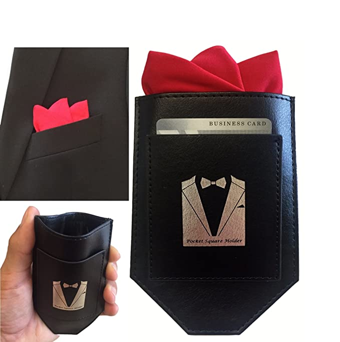 fd26467d142a1 Amazon.com : Perfect Pocket Square Holder made of High Quality Leather  Perfect for Fashionable Suits, Sports Coats, Tuxedos, and Vests :  Everything Else