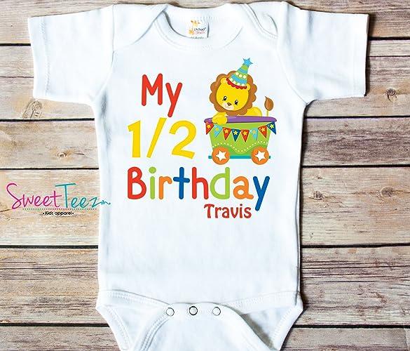 Amazon My Half Birthday Shirt Circus Lion Personalized Handmade
