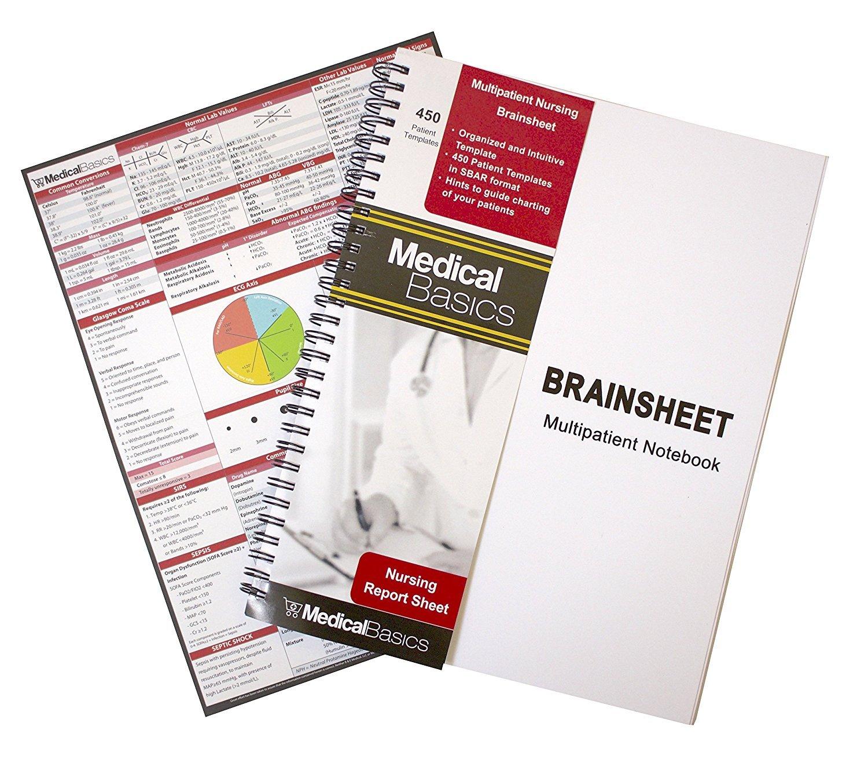 Nurse Report Sheet Notebook Assessment Organizer Template Nurse Vital Signs Flow Sheets Medical Report Notebook I Love My Patients