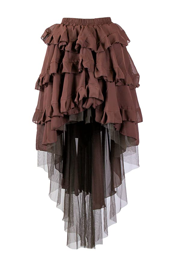 Steampunk Skirts | Bustle Skirts, Lace Skirts, Ruffle Skirts Steampunk Ophelie Skirt $86.99 AT vintagedancer.com