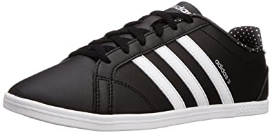 pretty nice 7adaa 1011d adidas neo Women s Coneo Qt Black, Ftwr White and Matte Silver Leather  Sneakers - 5
