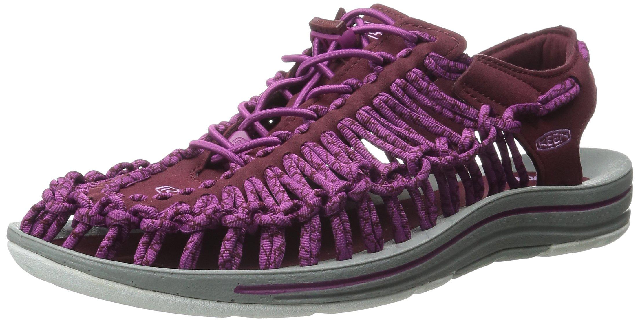 KEEN Women's Uneek Sandal, Zinfandel/Purple Wine, 5 M US