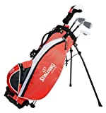 Spalding Deluxe Junior Golf Club Set with Stand Bag - 3 Ages - Right Handed
