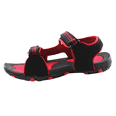 Mmojah Mens Walker Black/Red Sandal -10 ri6Q4