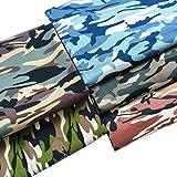 "ZAIONE 5pcs 18.8""x18.8"" (48cm x 48cm) Fat Quarter Camouflage Print 100% Cotton Camo Poplin Fabric Cotton Fabric Quilting…"
