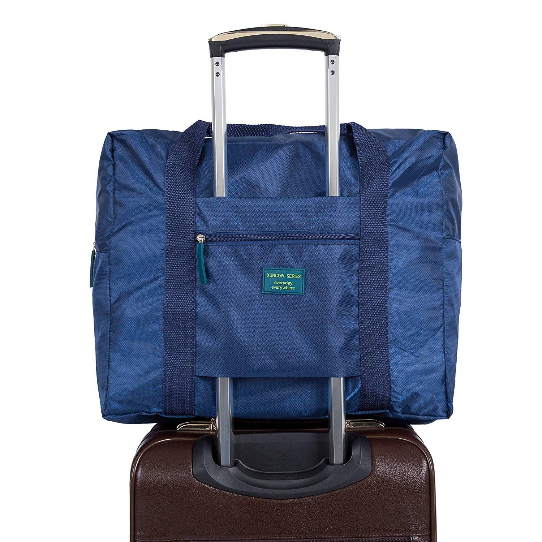 Ducomi Travelcity Borsa Pieghevole Impermeabile da Viaggio (Misura: 41 x 37 x 20 cm) (Blue)