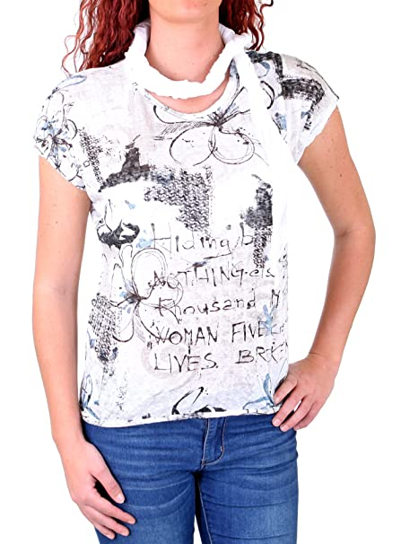 0ae5b13fc37830 Madonna T-Shirt Damen JOSEPHINE Allover Flower Print Shirt MF-741543   Amazon.de  Bekleidung
