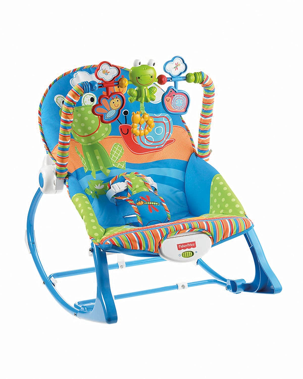 Fisher-Price Infant-to-Toddler Rocker, Blue/Orange/Green [Amazon Exclusive] X7033