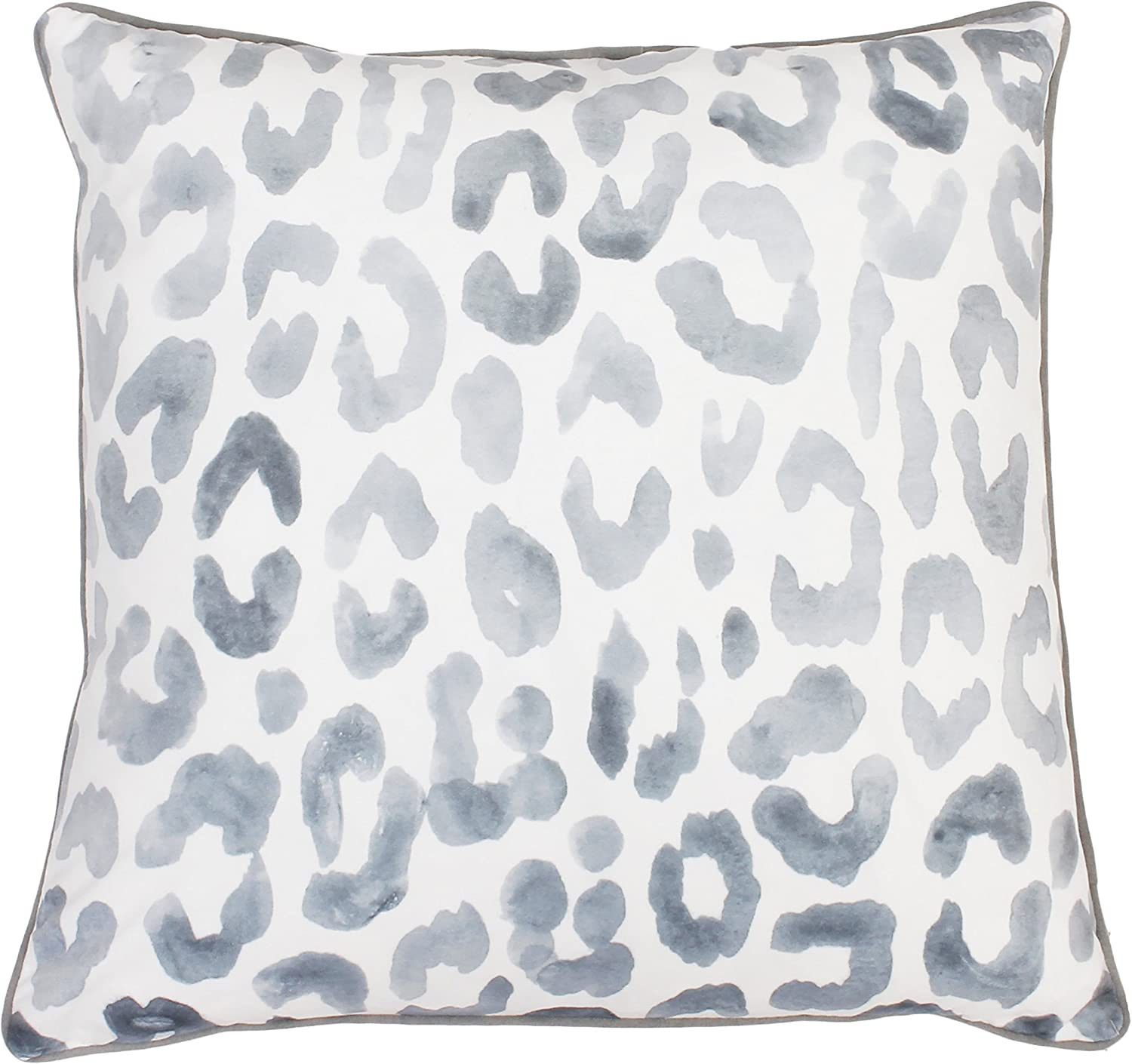 Amazon Com Thro By Marlo Lorenz 20x20 Miron Cheetah Velvet Throw Pillow 20 X 20 Gray Home Kitchen