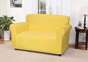 Madison Jersey Loveseat Slipcover, Yellow