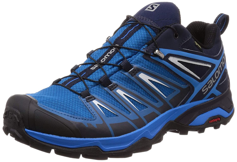 bleu (Mykonos bleu-indigo Hunting-pe 000) 42 EU SALOMON X Ultra 3 GTX, Chaussures de Randonnée Hautes Homme