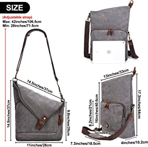 c45883f0217e Canvas Crossbody Bag for Women Messenger Purse Handbags Shoulder Bag Hobo  Totes Unisex