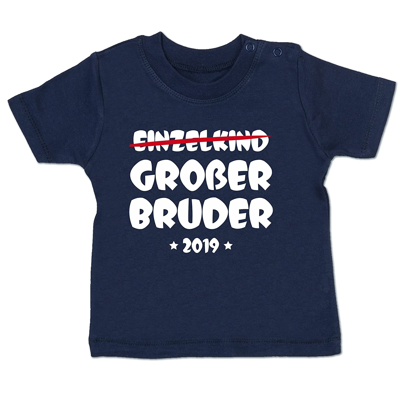 Shirtracer Geschwisterliebe Baby - Einzelkind Großer Bruder 2019 - Babyshirt Kurzarm BZ02