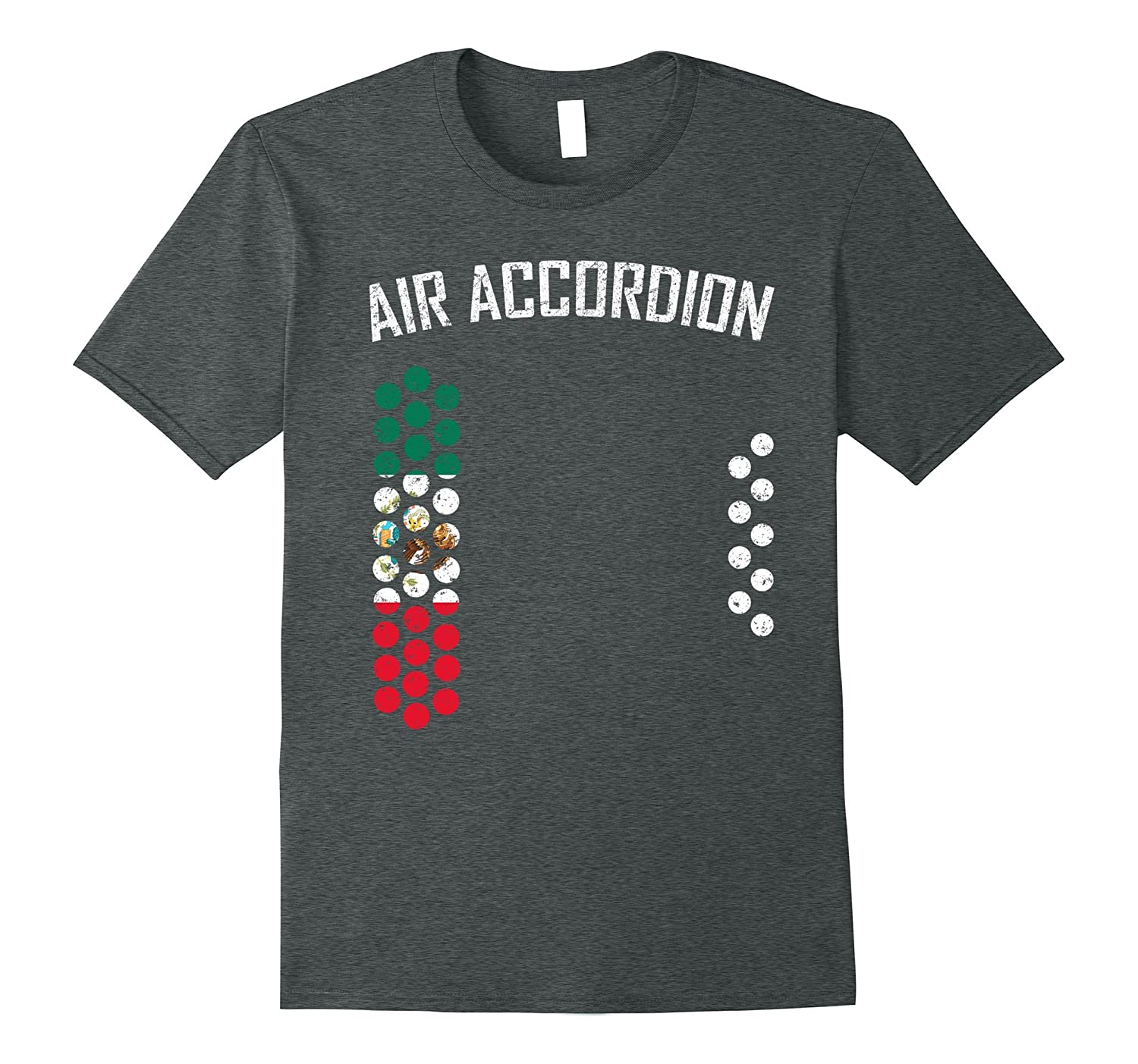 air accordion t shirt - The Flag of Mexico-FL