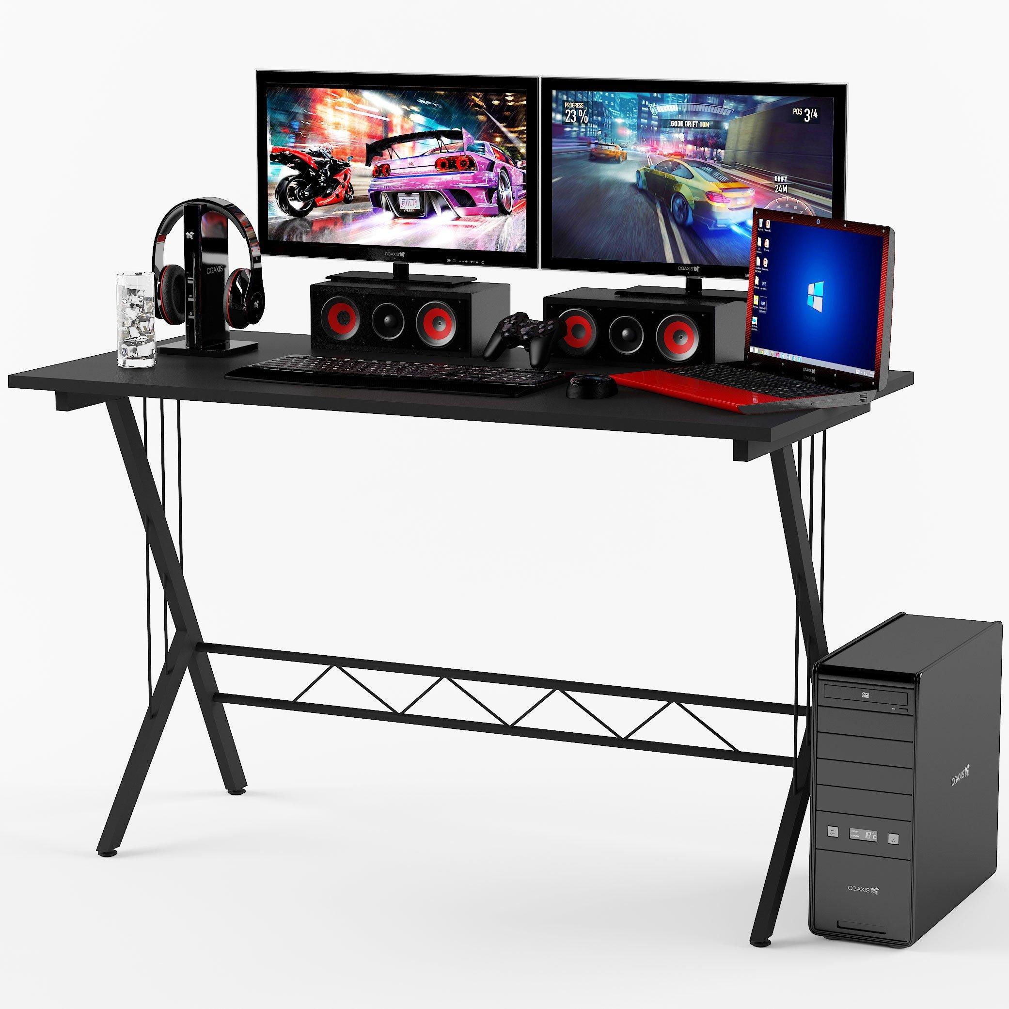 Gaming Desk Table Durable Workstation for Kids Room ,Home Office , Dorm Room , Black