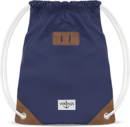 Gym Bag Sack Sacca da ginnastica cotone Sport Donne Uomini Bambini Farbe Turnbeutel:Grigio