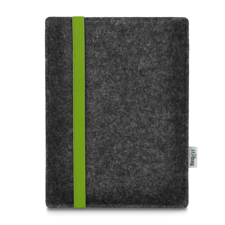 Stilbag maßgeschneiderte eReader-Hülle LEON | Farbe: anthrazit-grün | eBook Reader Tasche aus Filz | e-Reader Schutzhülle | Tasche Made in Germany