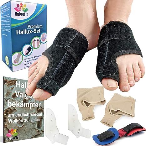 ValgoFit® Corrector de juanetes contra el Hallux Valgus - Separadores de dedos Alivio incl.