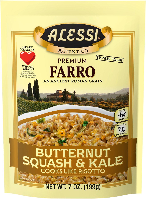 Alessi Butternut Squash & Kale Farro, 7 Ounce (6 Pack)