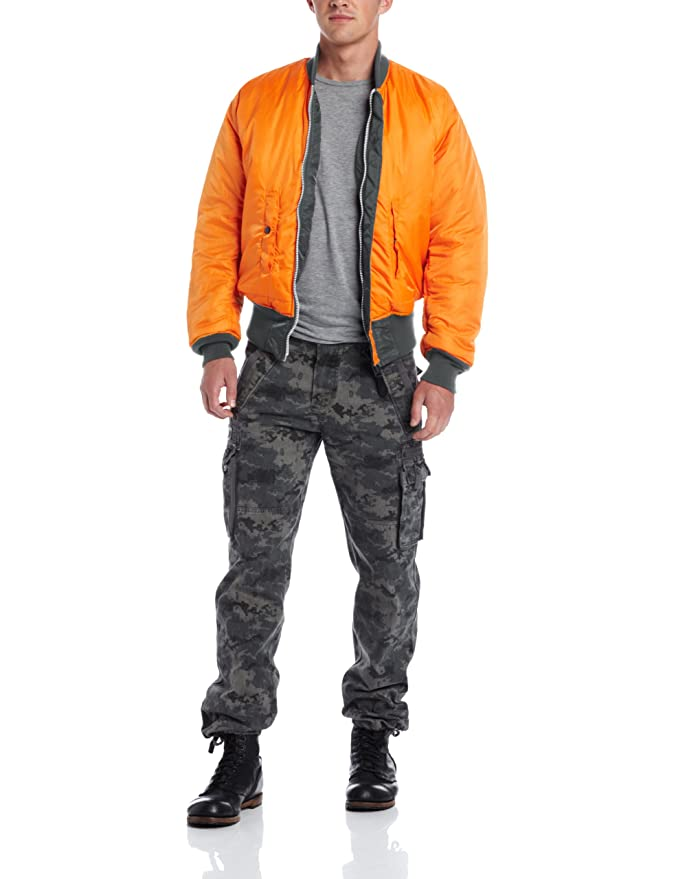 Alpha Industries Mens MA-1 Flight Bomber Jacket