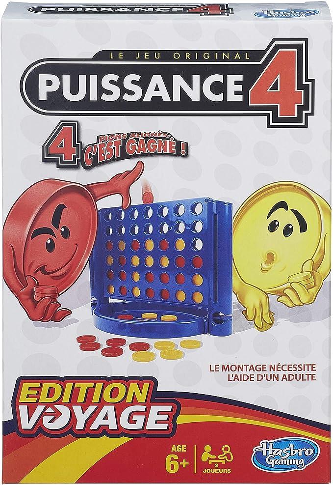 Hasbro Gaming- Conecta 4 Juego de Viaje, versión francésa (Hasbro Spain B10001010): Amazon.es: Juguetes y juegos