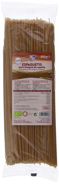La Finestra Sul Cielo Espaguetis de Espelta - 6 Paquetes de 500 gr - Total: 3000 gr: Amazon.es: Alimentación y bebidas