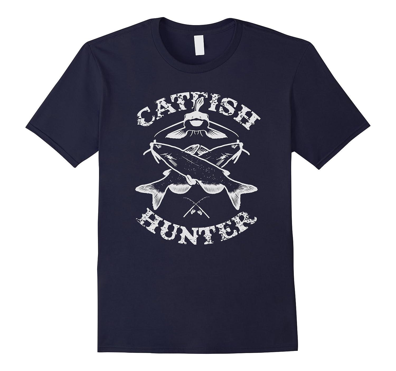 Catfish Hunter Fishermans Fishing Lovers T-Shirt-TD