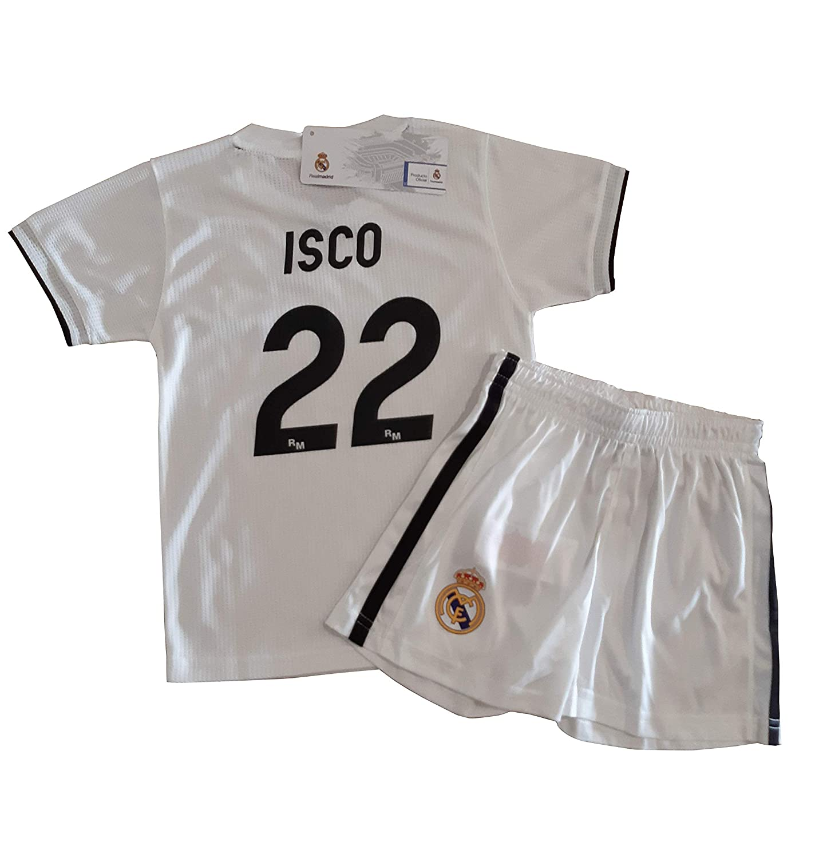 ed40029857d70 Conjunto Camiseta y Pantalon 1ª Equipación 2018-2019 Real Madrid - Réplica  Oficial Licenciado -