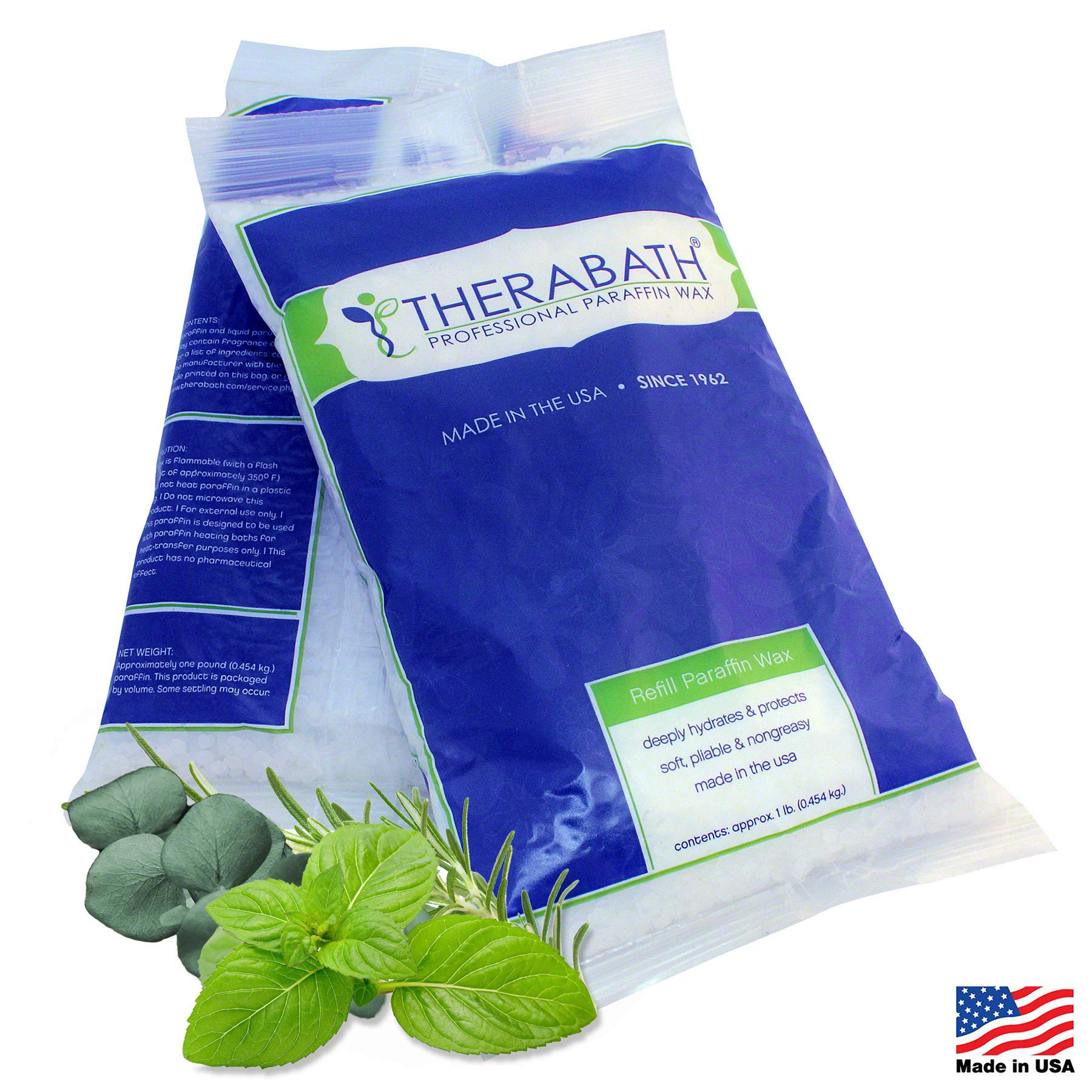 Therabath Refill Paraffin Wax, Eucalyptus Rosemary Mint, 6 1-lb Bags by Therabath