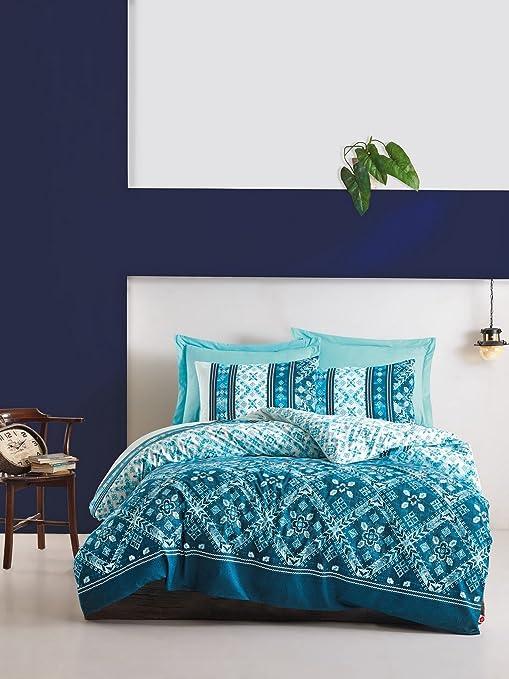 Amazoncom Lamodahome Traditional Duvet Cover Set 100 Cotton - Geometrical-shapes-on-bedding