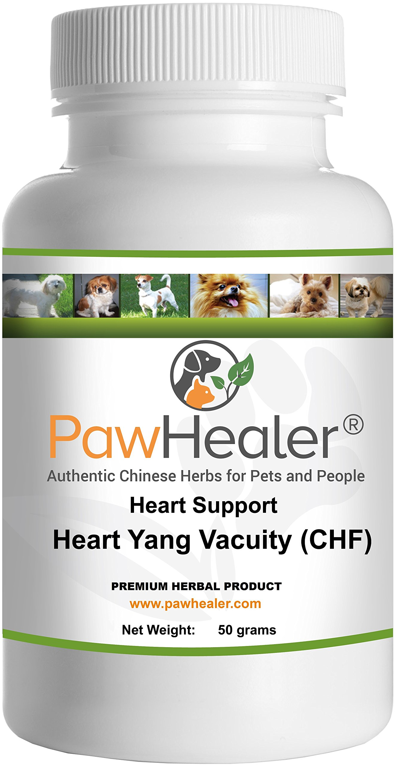 Heart Support - Heart-Yang Vacuity (CHF) - 50 Grams - Coughing, Gagging, Wheezing Due to Heart Condition - 50 Grams-Herbal Powder-Remedy for Dogs & Pets... ... by PawHealer